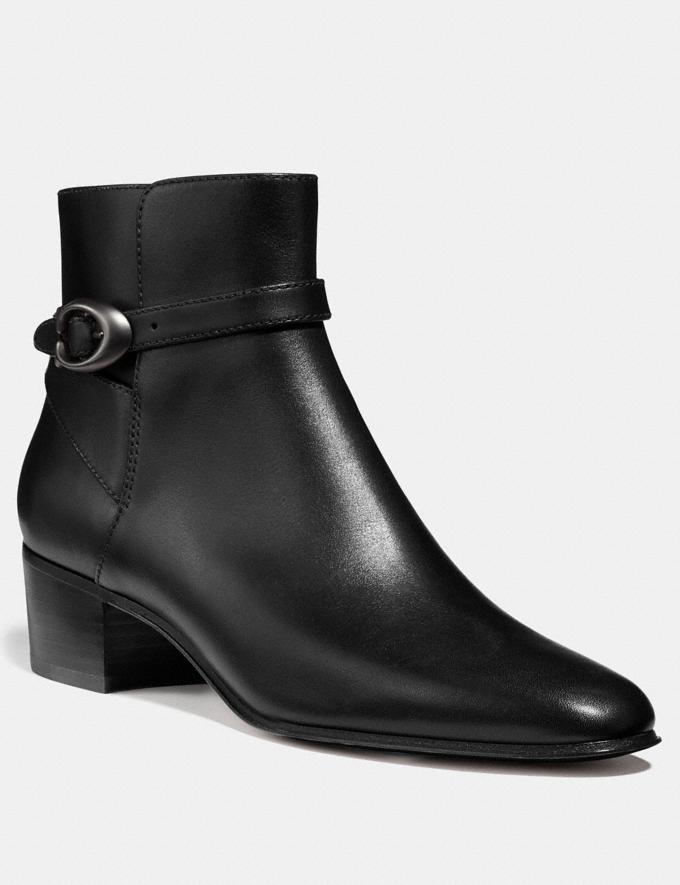 Coach Chrystie Bootie Black Women Shoes Booties