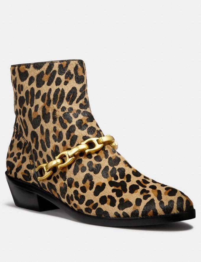 Coach Allen Bootie With Leopard Print Natural SALE Women's Sale Shoes