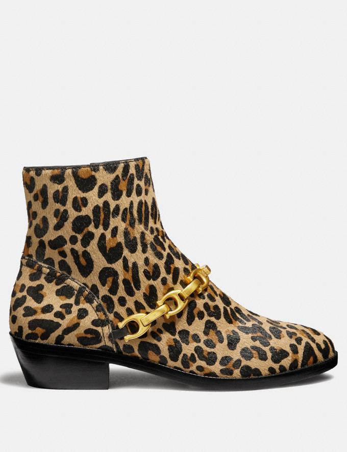 Coach Allen Bootie With Leopard Print Natural SALE Women's Sale Shoes Alternate View 1
