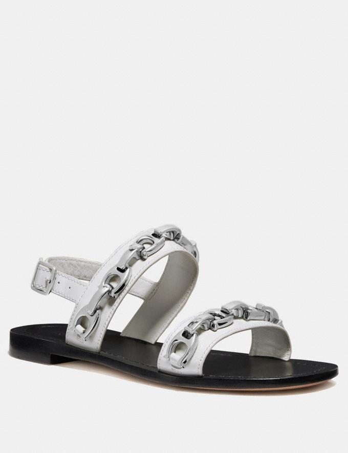Coach Eden Sandal Off White Women Shoes Sandals