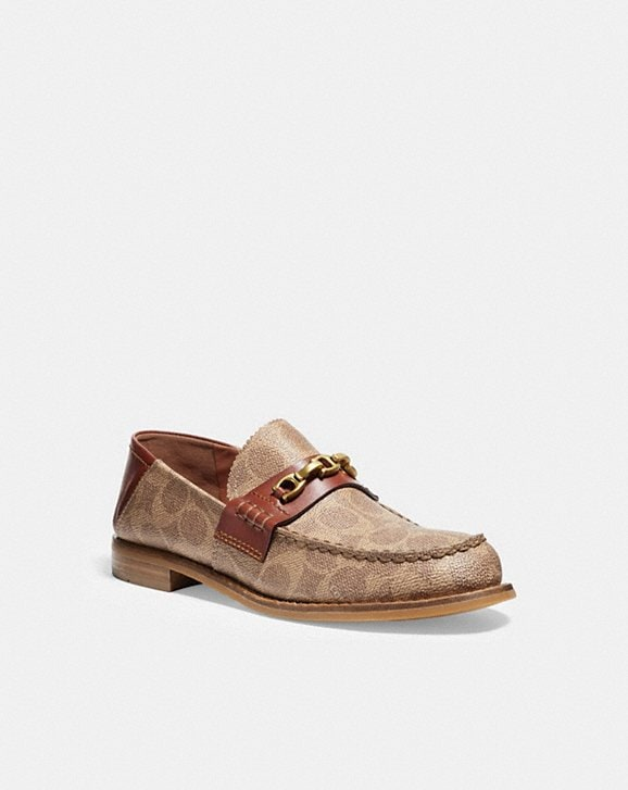 Coach PUTNAM LOAFER IN SIGNATURE CANVAS