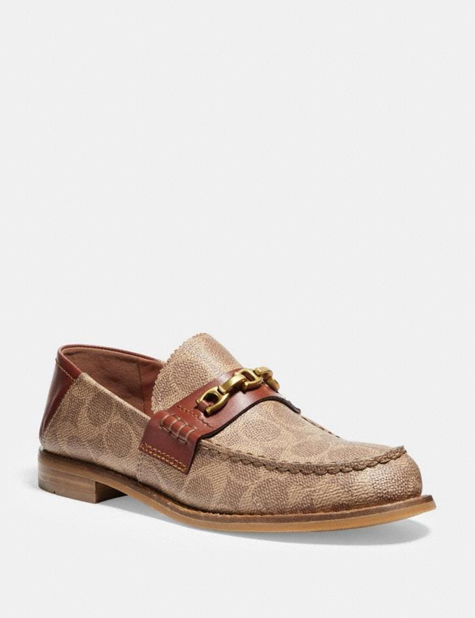 Coach Putnam Loafer in Signature Canvas Tan/Rust
