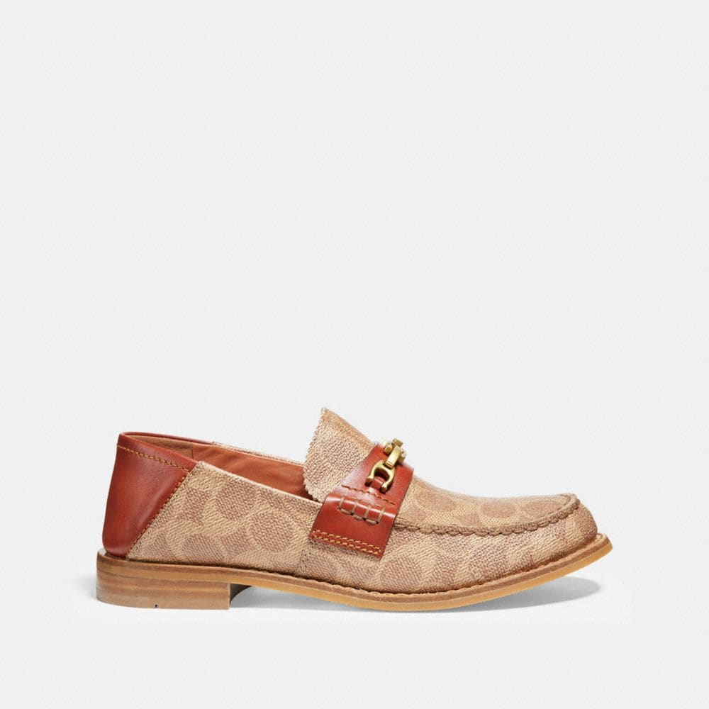 Coach Putnam Loafer in Signature Canvas Alternate View 1