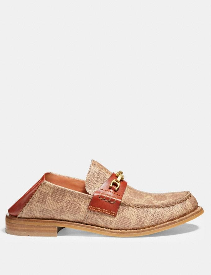Coach Putnam Loafer in Signature Canvas Tan/Rust  Alternate View 2