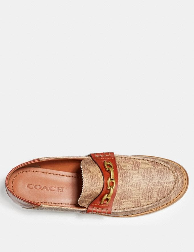 Coach Putnam Loafer in Signature Canvas Tan/Rust  Alternate View 3