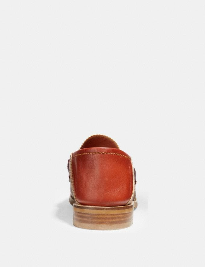Coach Putnam Loafer in Signature Canvas Tan/Rust  Alternate View 4