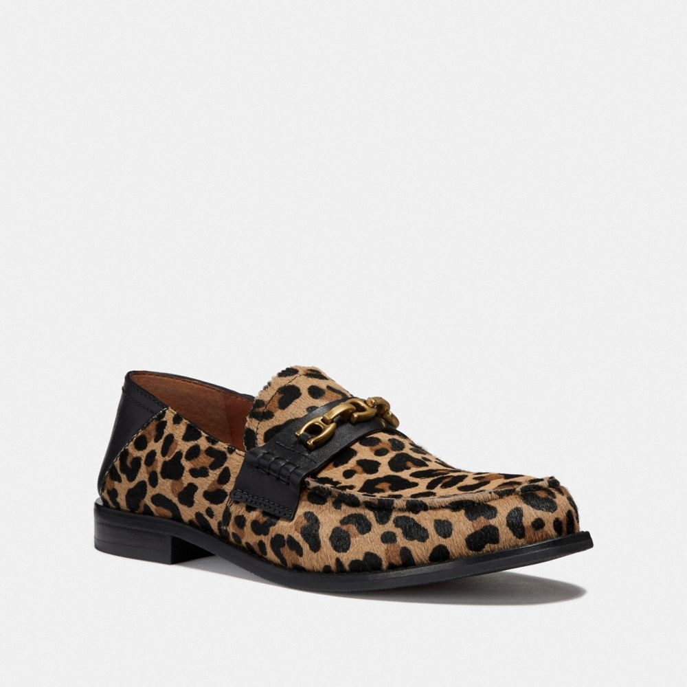 COACH PUTNAM LOAFER WITH LEOPARD PRINT - WOMEN'S