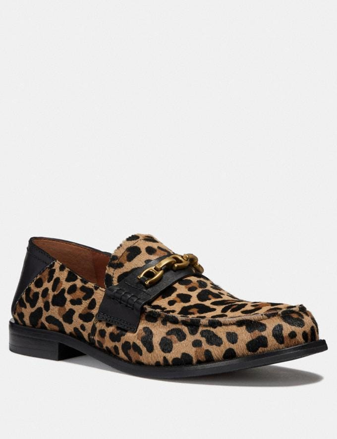 Coach Putnam Loafer With Leopard Print Natural
