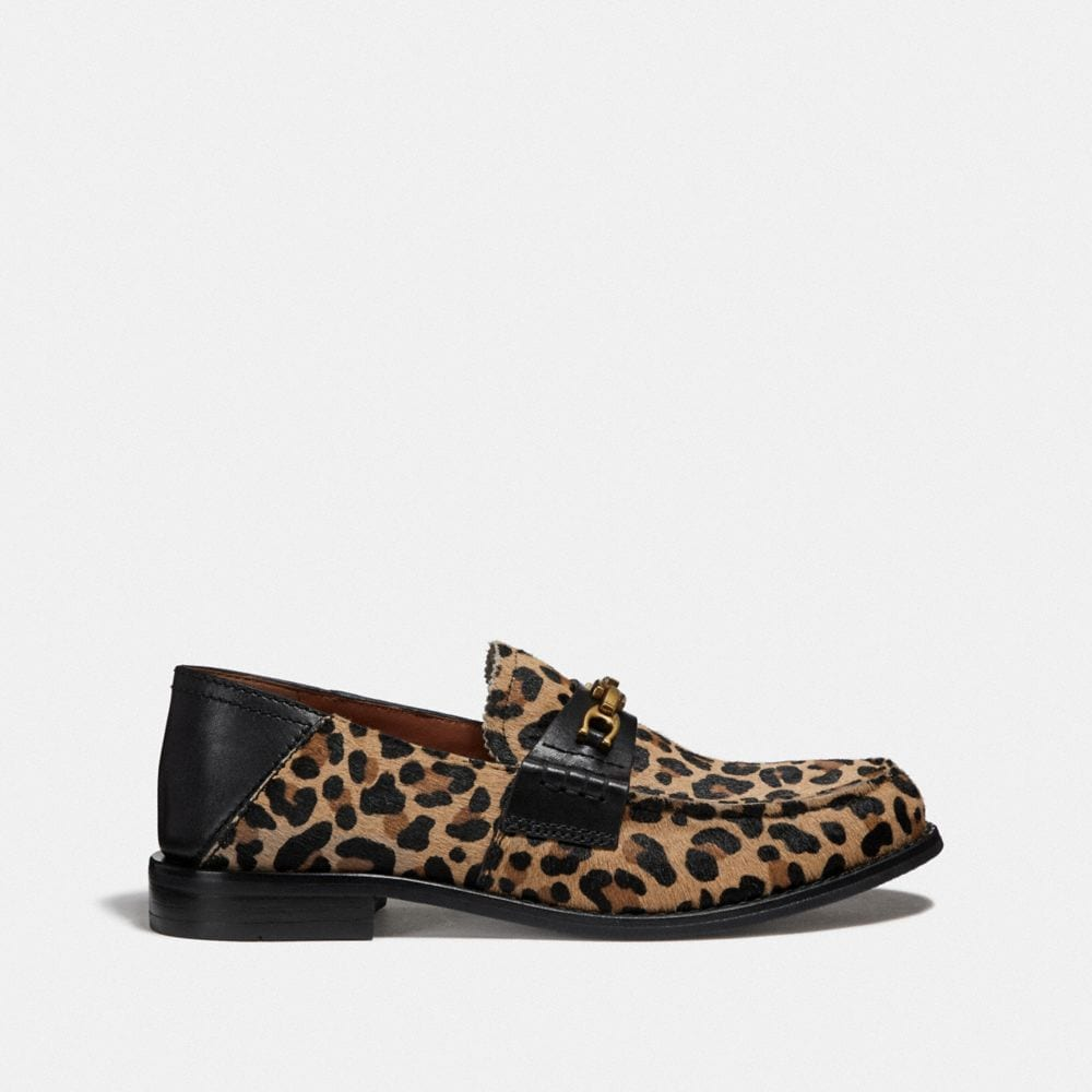 Coach Putnam Loafer With Leopard Print Alternate View 1