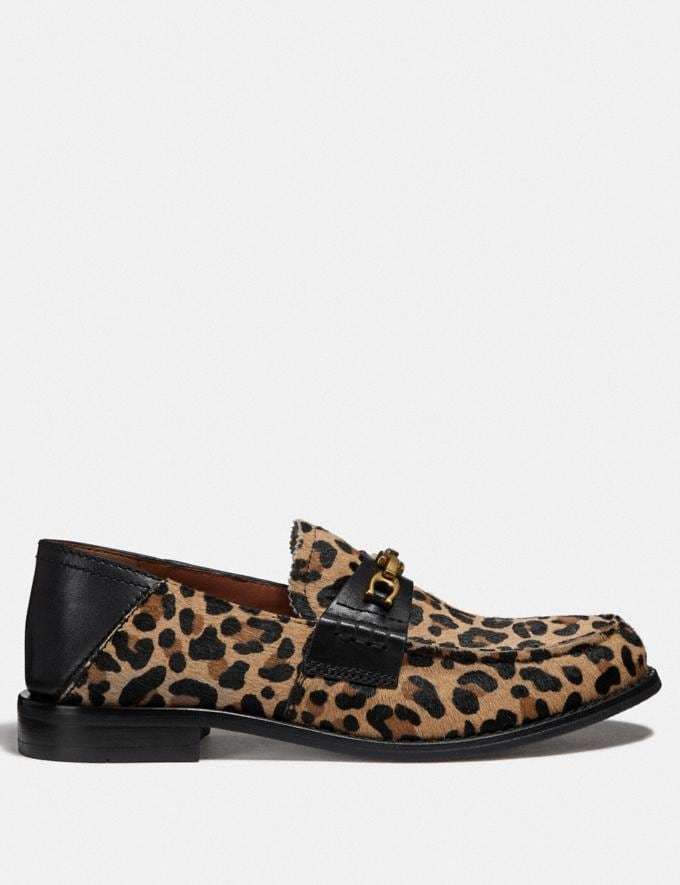Coach Putnam Loafer With Leopard Print Natural  Alternate View 1