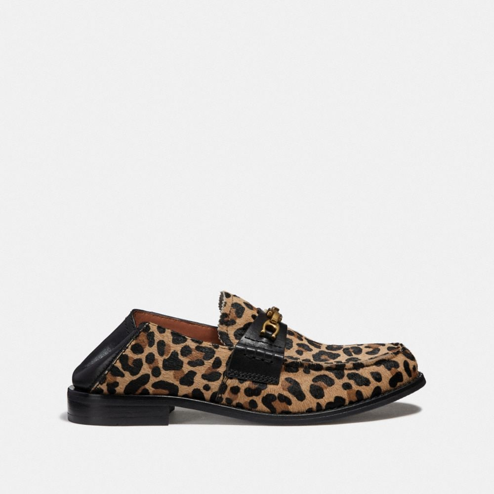 Coach Putnam Loafer With Leopard Print Alternate View 2