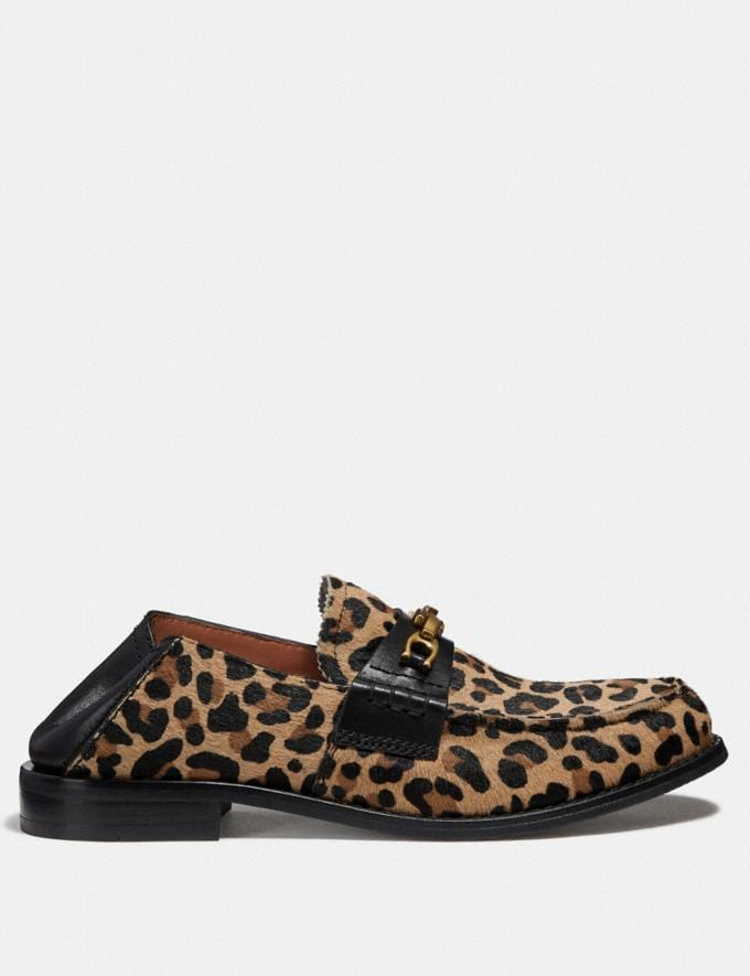 Coach Putnam Loafer With Leopard Print Natural  Alternate View 2