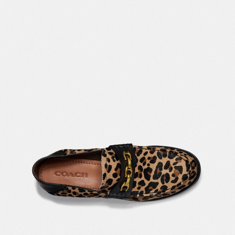 Coach Putnam Loafer With Leopard Print Alternate View 3
