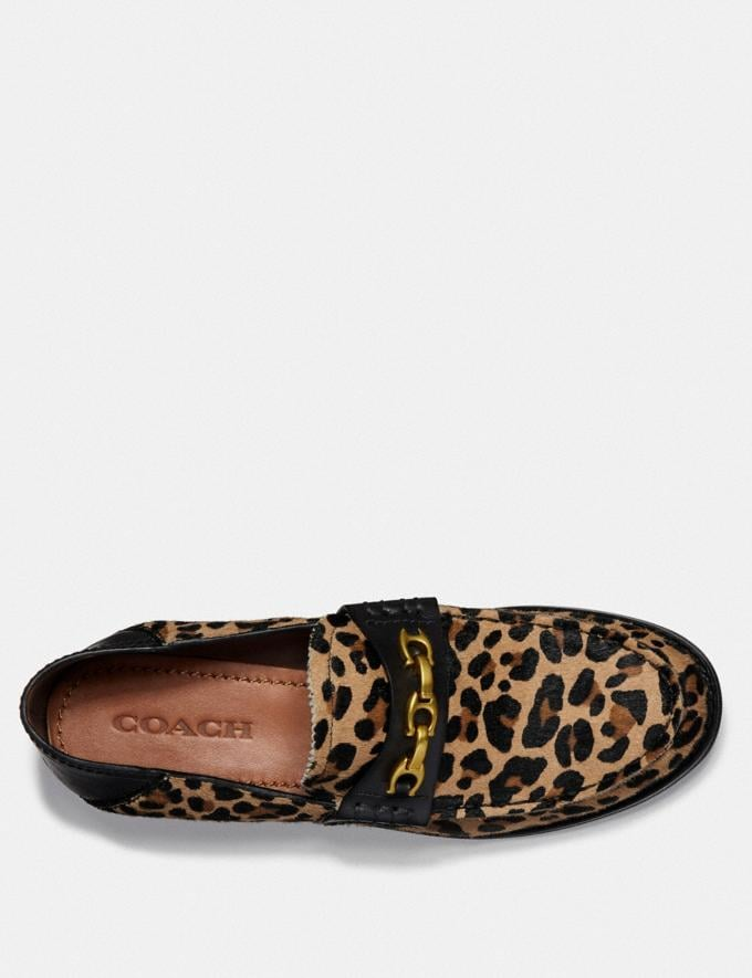 Coach Putnam Loafer With Leopard Print Natural  Alternate View 3