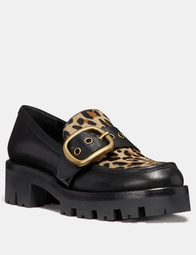 Coach Grand Loafer With Leopard Print Natural