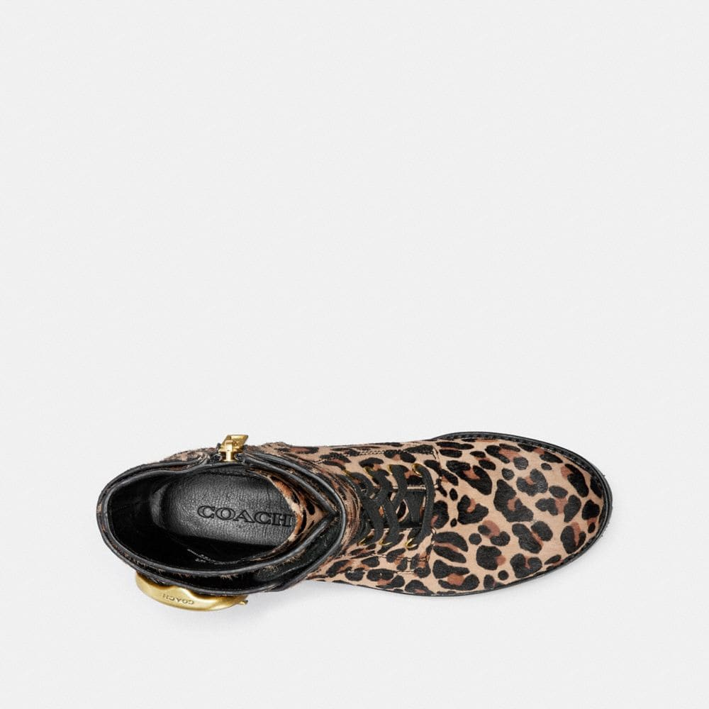 Coach Lucy Lace Up Bootie With Leopard Print Alternate View 2