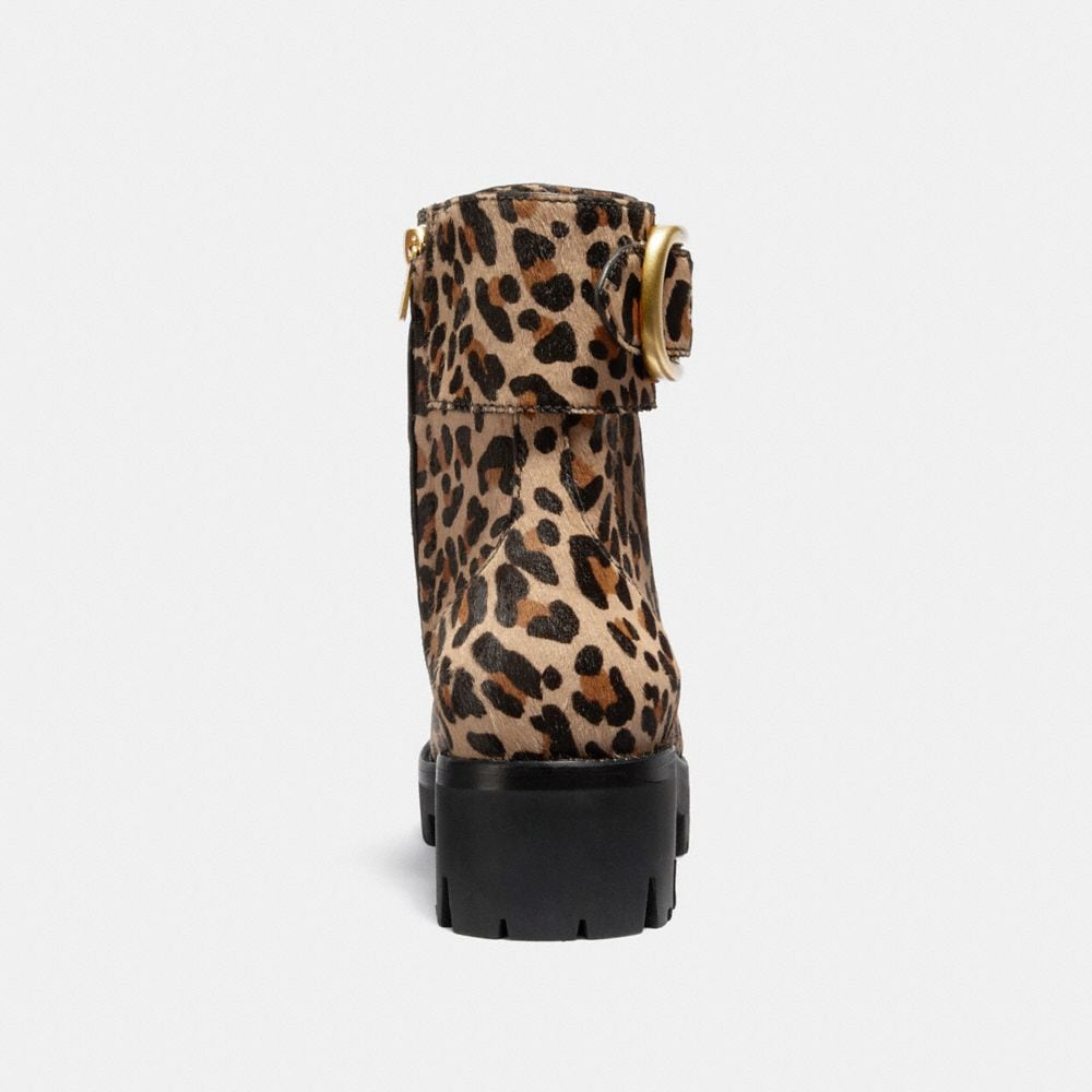 Coach Lucy Lace Up Bootie With Leopard Print Alternate View 3