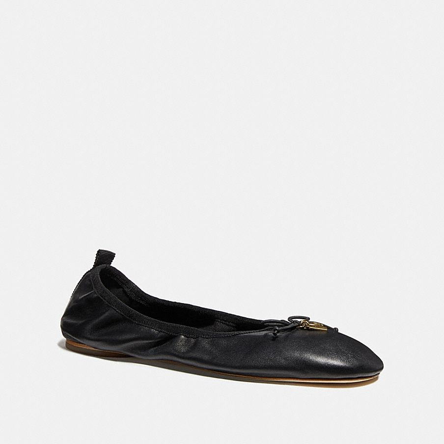 Coach Margot Ballet Inspired By Our Heritage This Smooth Leather Flat Features A Signature Charm And Hangtag The Wear With Everything Style Is Designed An
