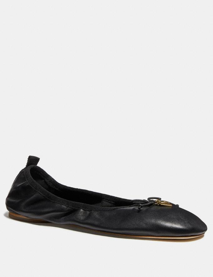 Coach Margot Ballet Black Women Shoes Flats