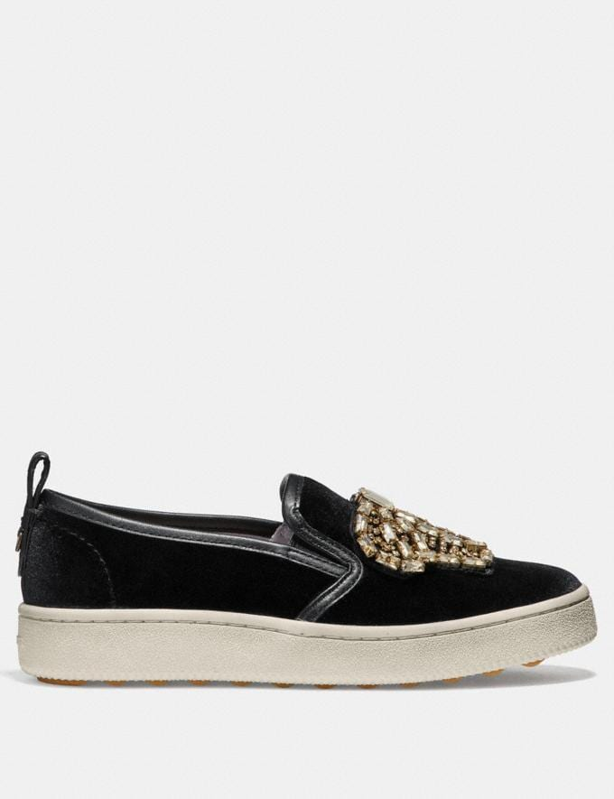 Coach C115 With Crystal Bow Patches Black SALE For Her Shoes Alternate View 1