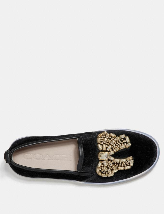 Coach C115 With Crystal Bow Patches Black SALE For Her Shoes Alternate View 2