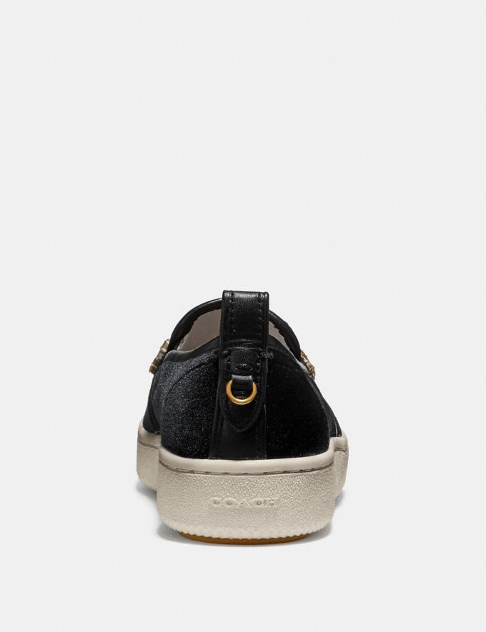 Coach C115 With Crystal Bow Patches Black SALE For Her Shoes Alternate View 3