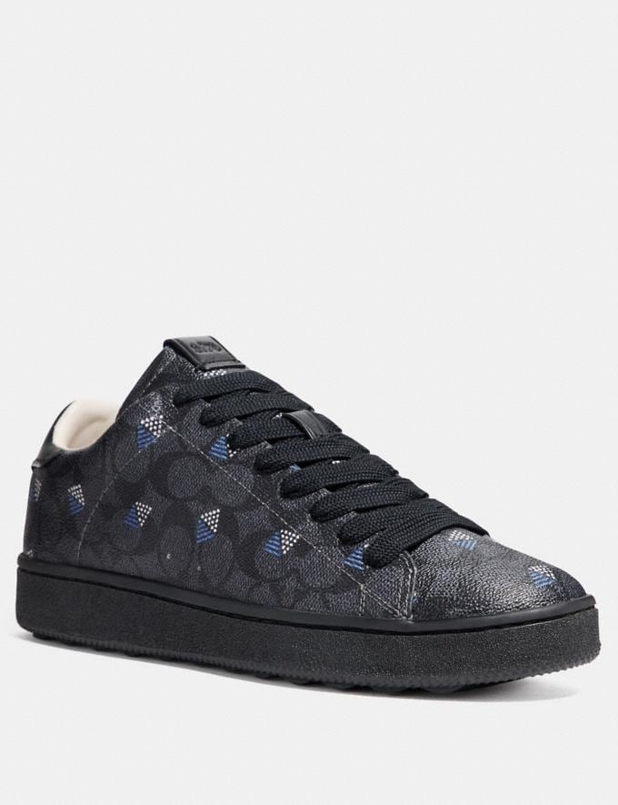 Coach C101 With Dot Diamond Print Charcoal/Dot Diamond New Men's New Arrivals Shoes