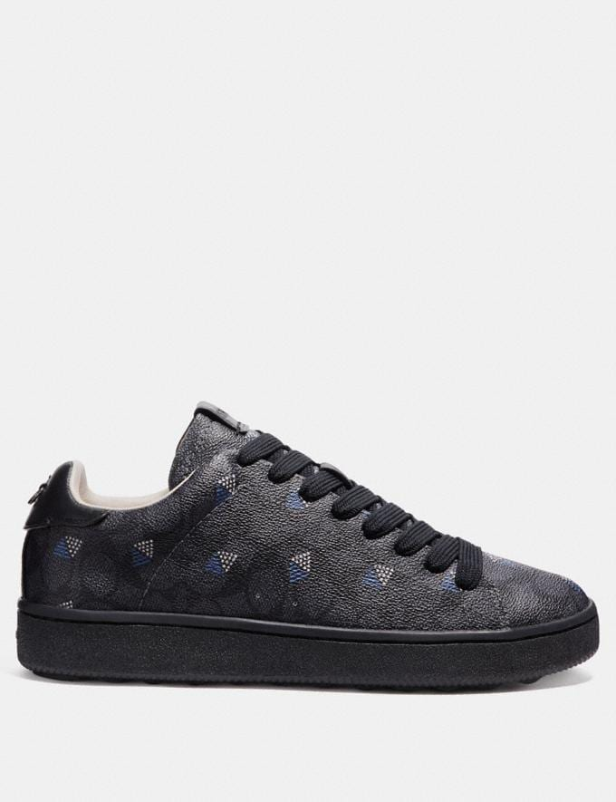 Coach C101 With Dot Diamond Print Charcoal/Dot Diamond New Men's New Arrivals Shoes Alternate View 1