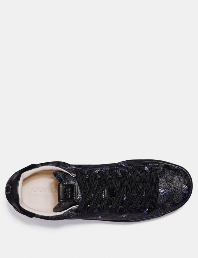Coach C101 With Dot Diamond Print Charcoal/Dot Diamond New Men's New Arrivals Shoes Alternate View 2