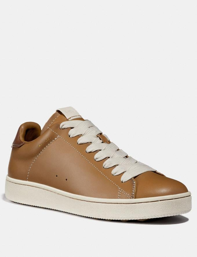 Coach C101 Low Top Sneaker Light Saddle/Chalk Men Shoes Sneakers