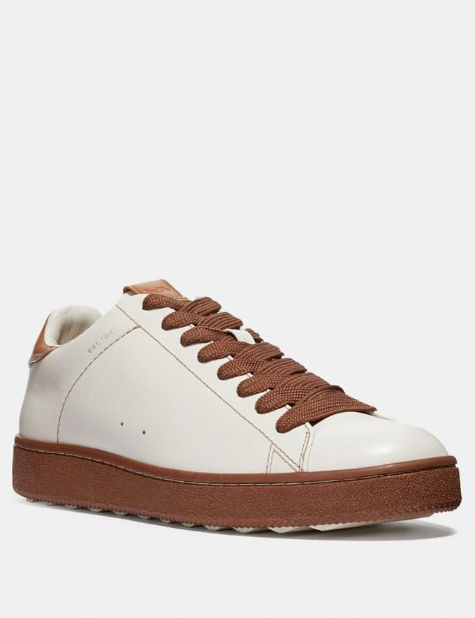 Coach C101 Low Top Sneaker Chalk/Dark Saddle
