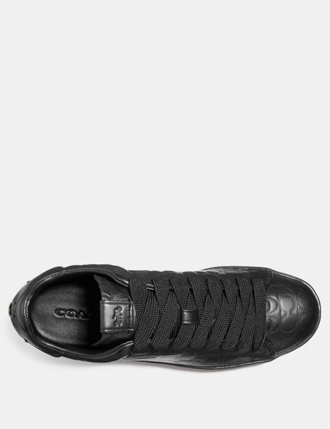 Coach C101 Low Top Sneaker Black  Alternate View 2