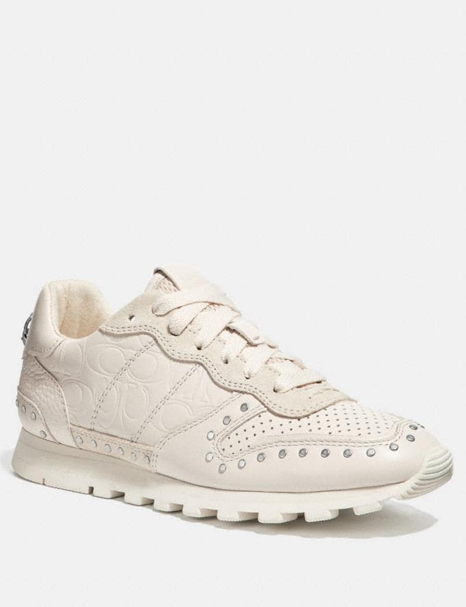 Coach C118 With Rivets Chalk Women Shoes Trainers