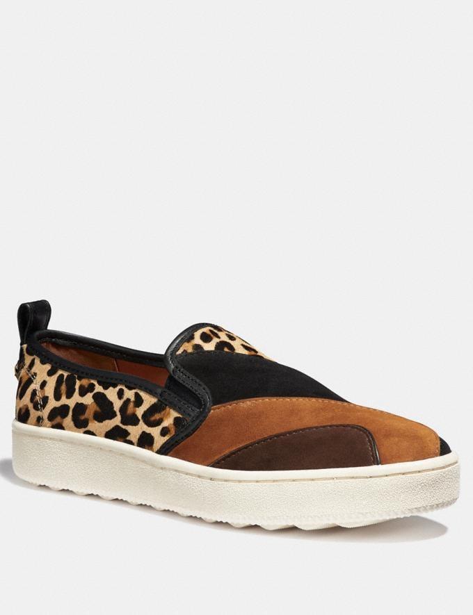 Coach C115 With Leopard Patchwork Black/Cedar/Natural/Espresso Friends & Family Sale Women's Shoes