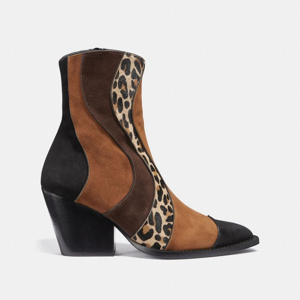 Coach Patchwork Bootie With Leopard Print Alternate View 1