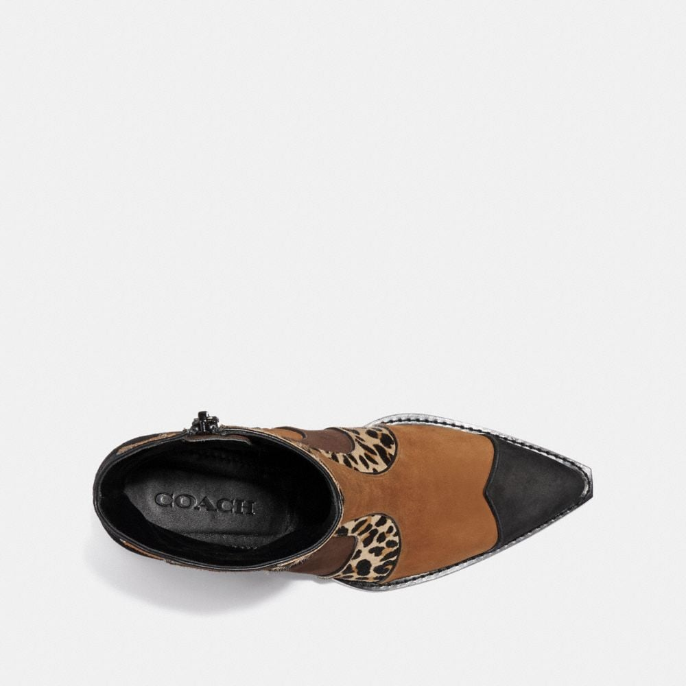 Coach Patchwork Bootie With Leopard Print Alternate View 2