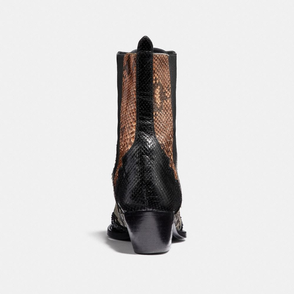 Coach Lace Up Bootie With Patchwork Snake Alternate View 3