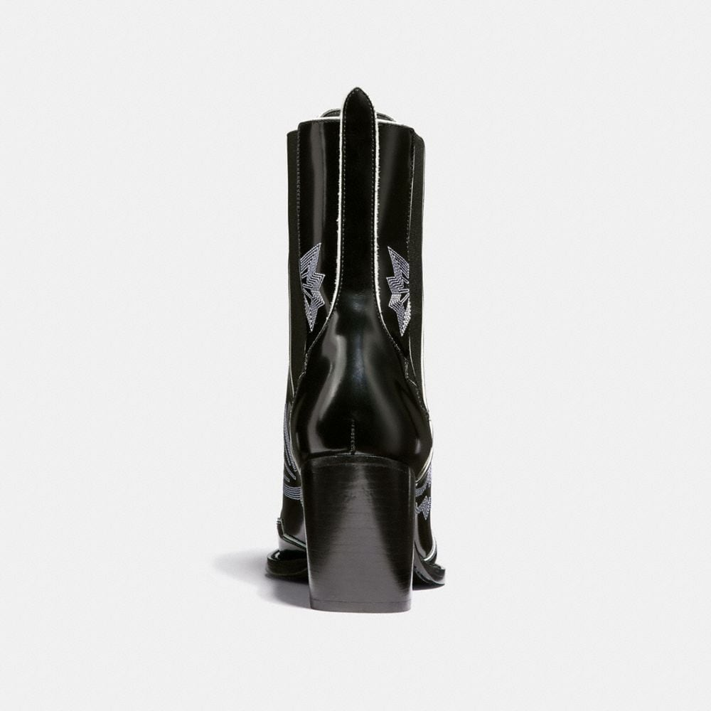 Coach Lace Up Bootie With Western Stitch Alternate View 3