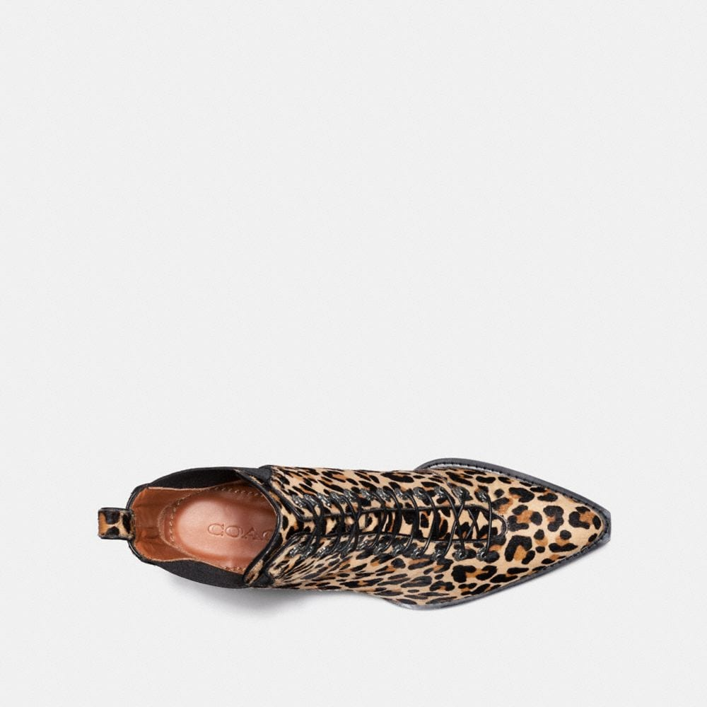 Coach Lace Up Bootie With Leopard Print Alternate View 2