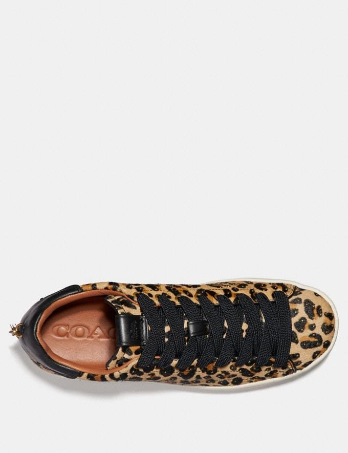 Coach C101 With Leopard Print Natural/Black Women Shoes Trainers Alternate View 1