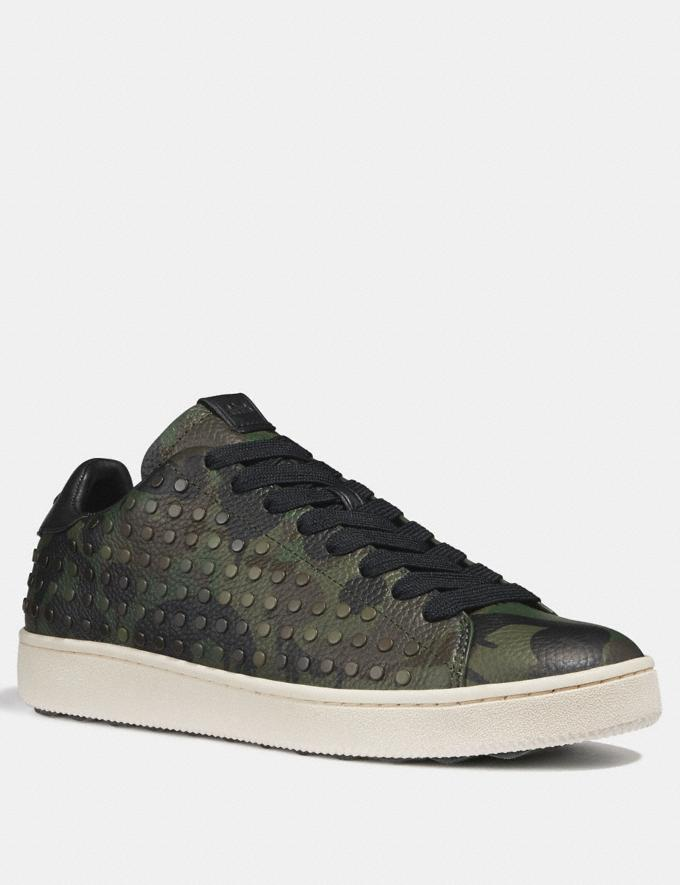 Coach C101 With Studded Wild Beast Print Military Wild Beast Men Shoes Trainers