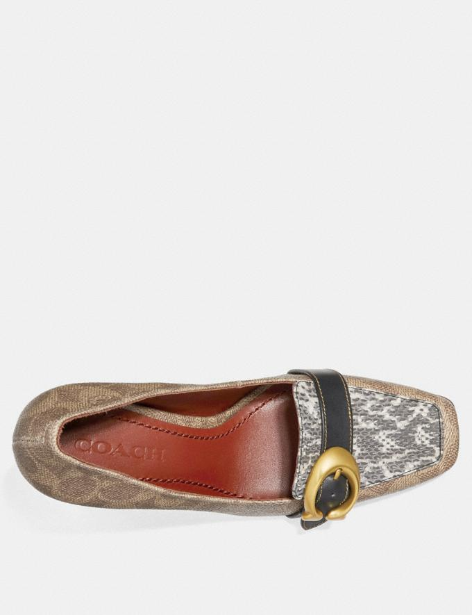 Coach Jade Loafer Tan/Natural/Black  Alternate View 2