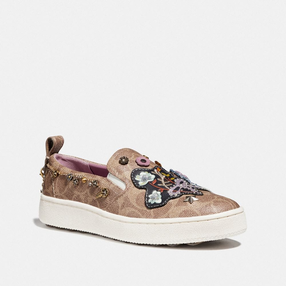 Coach C115 With Floral Patches