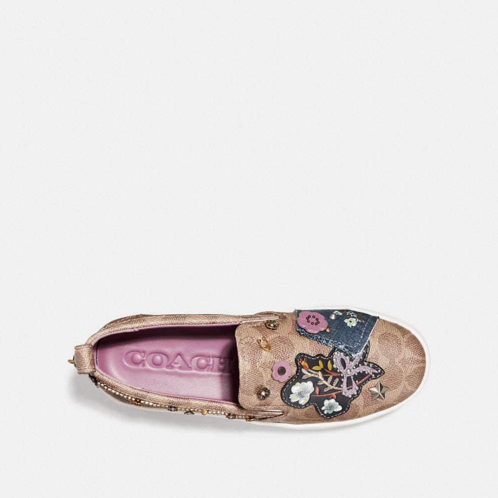 Coach C115 With Floral Patches Alternate View 2