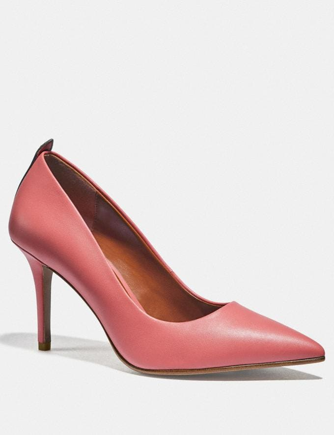 Coach Waverly Pump Bright Coral Women Shoes Heels