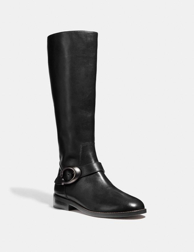 Coach Brynn Riding Boot Black SALE Women's Sale Shoes