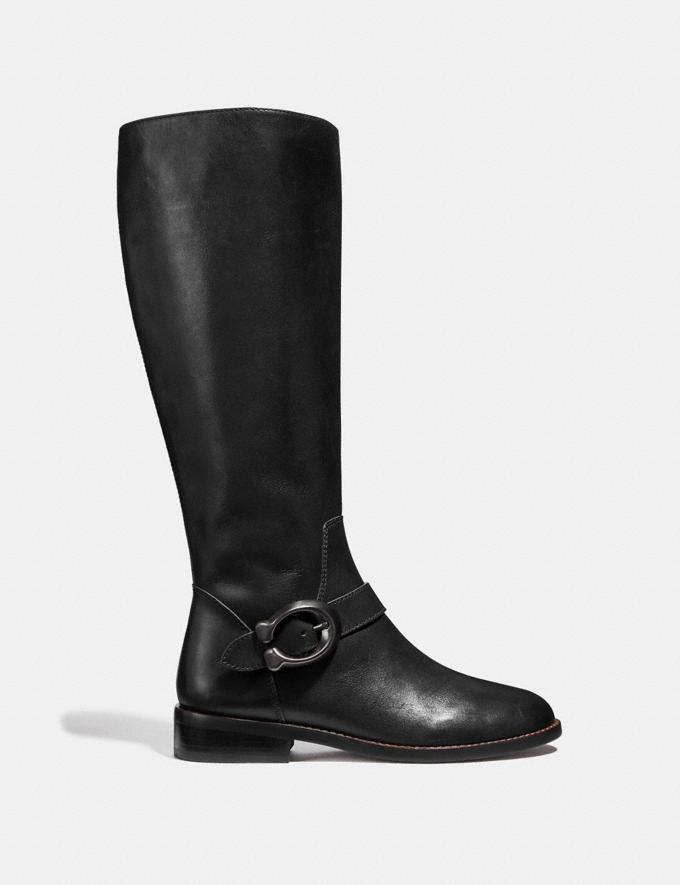 Coach Brynn Riding Boot Black SALE Women's Sale Shoes Alternate View 1
