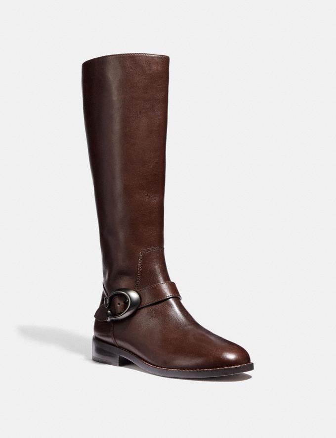 Coach Brynn Riding Boot Tobacco SALE Women's Sale Shoes