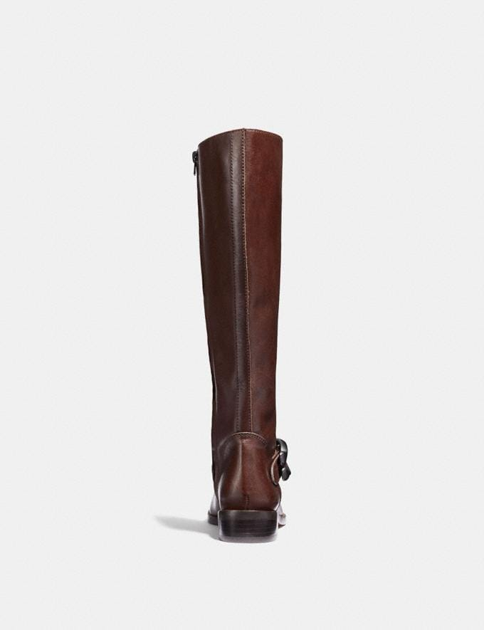 Coach Brynn Riding Boot Tobacco SALE Women's Sale Shoes Alternate View 2