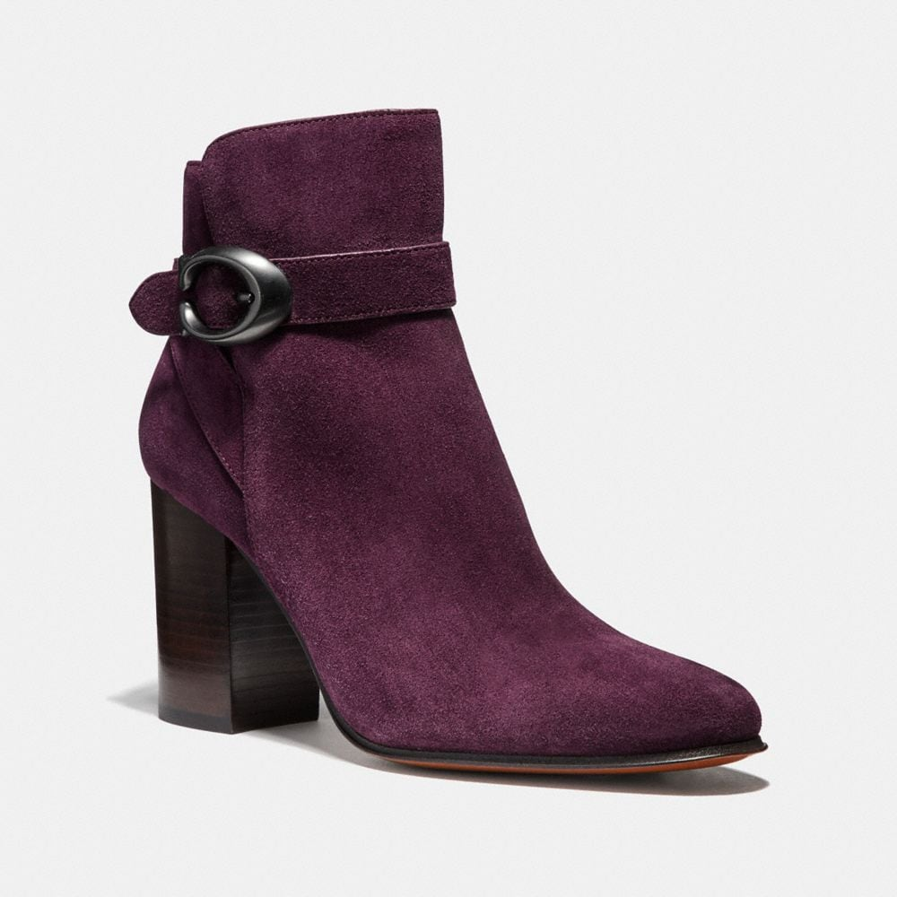 DELANEY SIGNATURE BUCKLE HEEL BOOTIE